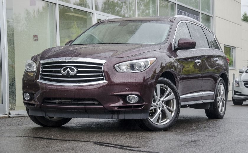 2015 Infiniti QX60 AWD Tech-Pkg GPS/DVD/TV Sunroof Cuir Bluetooth #0
