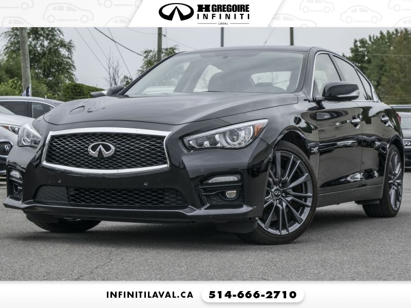 Used Infiniti Q50 Red Sport 400 Awd For In Montreal Qc Cargurus