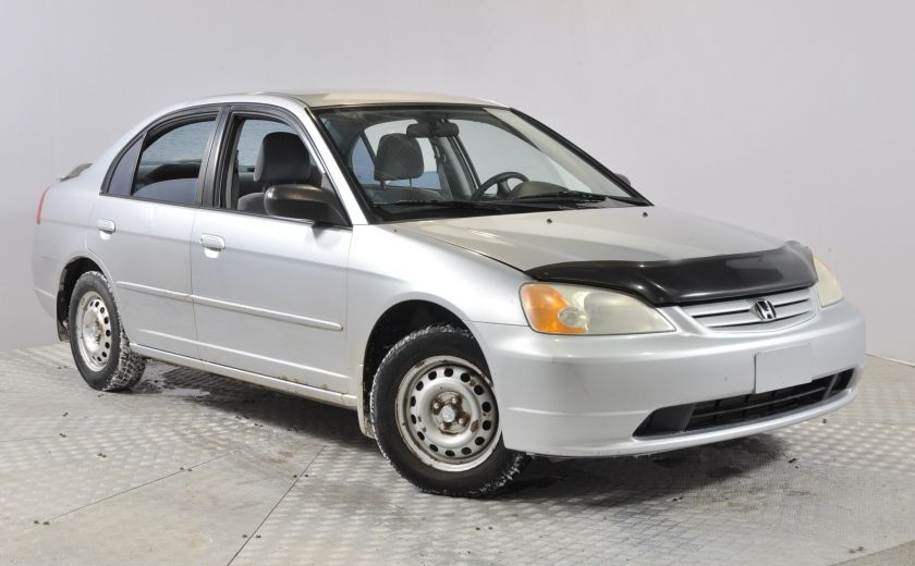 2002 Honda Civic DX Bas-KM AUX/MP3 Tres Fiable #0