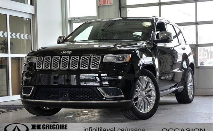 2018 Jeep Grand Cherokee Summit 4X4 GPS Panoramique Cuir Bluetooth/Cam-360 #0
