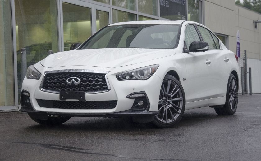 2018 Infiniti Q50 AWD Red-Sport 400HP GPS Sunroof Cuir Bluetooth CAM #0